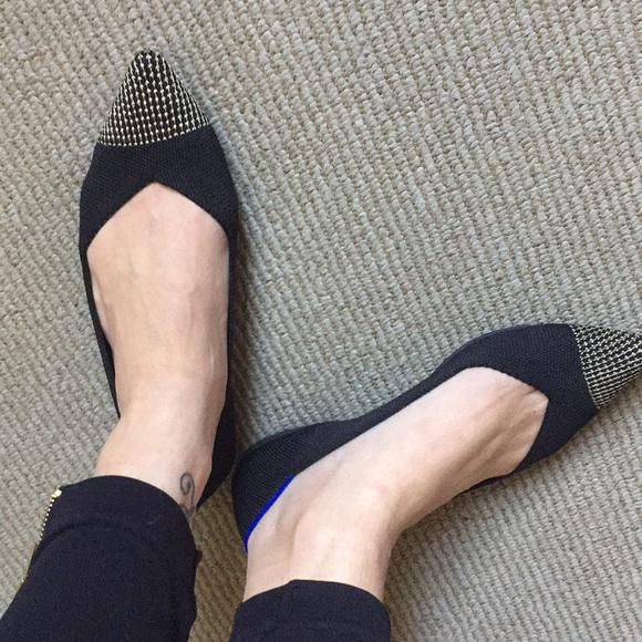 Rothy's Shoes | Rothys Black Point With